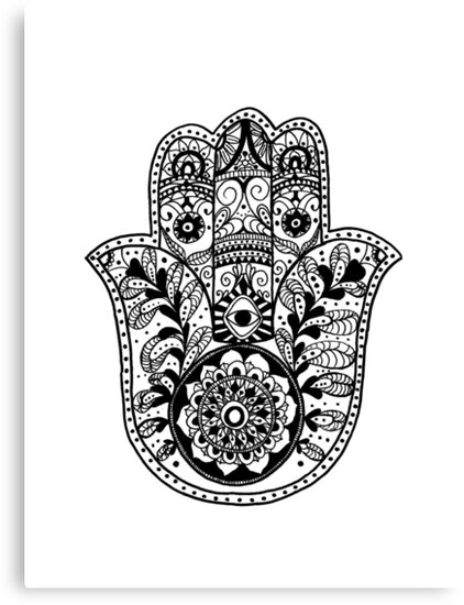 Quot The Hamsa Hand Quot Canvas Prints By Carolyn Huane Redbubble