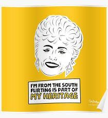 The Golden Girls - Blanche Devereaux print Poster