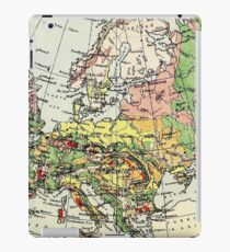 Old commercial map Europe 1865 - 1907 iPad Case/Skin