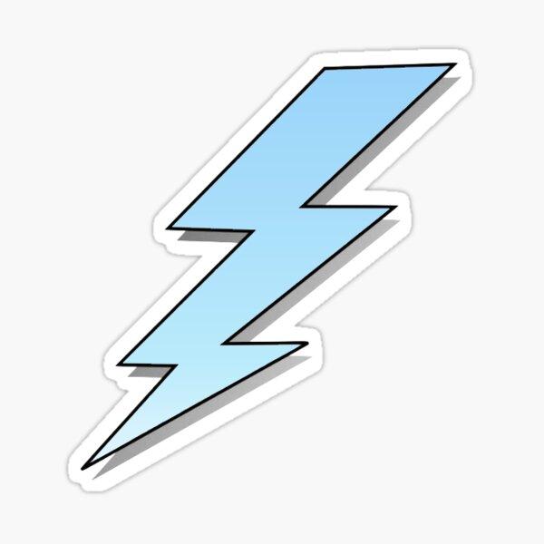 Blue to White Gradient Lightning Bolt Sticker