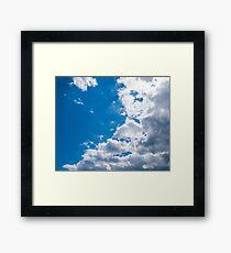 Blue, white, blue, blue Framed Print