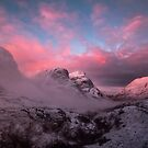 Candyfloss sunrise in Glencoe by Angi Wallace