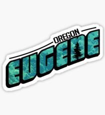 Eugene Oregon Post Card Sticker