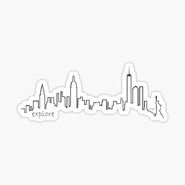 New York City - Erkunden Sie die Serie Sticker