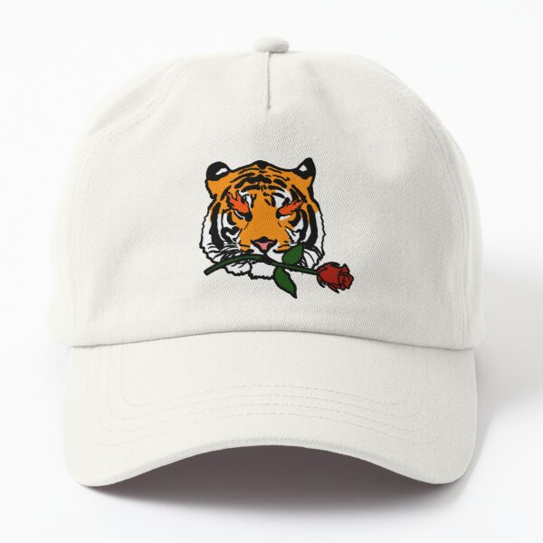Tigers and Roses - Bengal Tiger Street Art Dad Hat