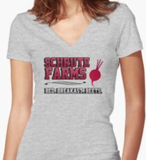Schrute farms beets. Bed, breakfast beets. Women's Fitted V-Neck T-Shirt