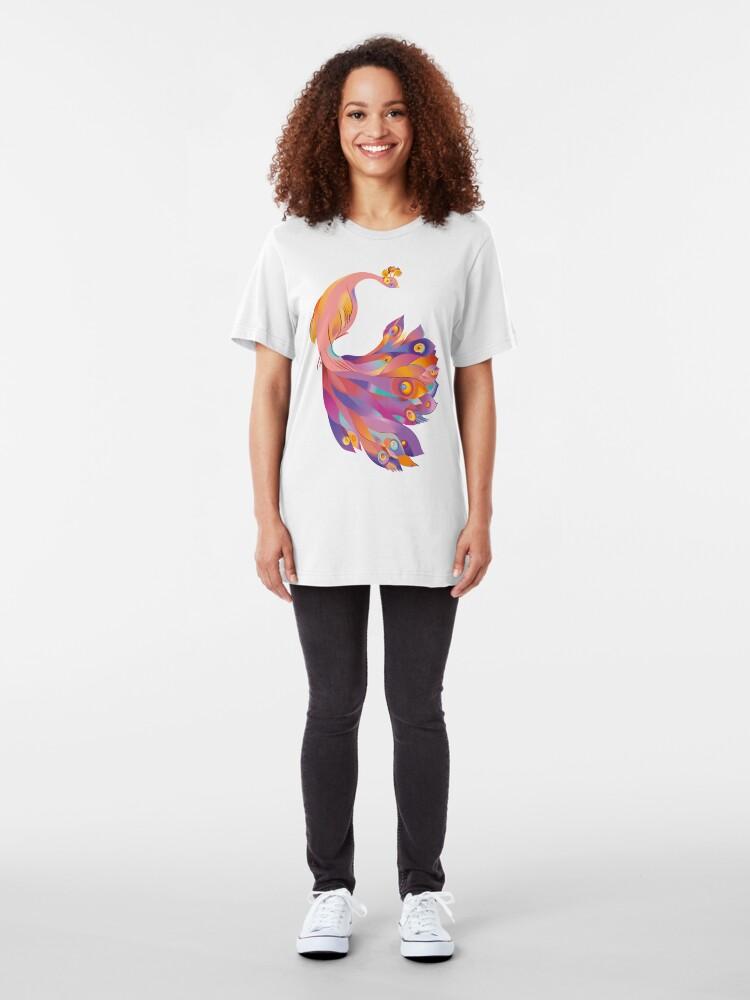 Alternate view of Pink Peacock Slim Fit T-Shirt