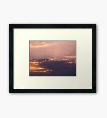 Violet clouds Framed Print