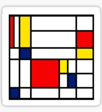 Mondrian Composition Sticker
