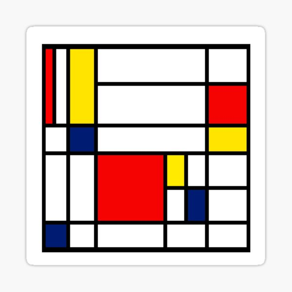 Mondrian Composition Sticker