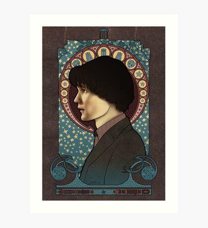 11th doctor art nouveau  Art Print