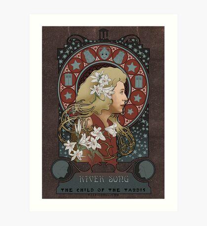 River art nouveau  Art Print