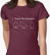 Name the Triangles Women's Fitted T-Shirt