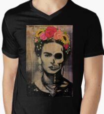 Camiseta para hombre de cuello en v Frida