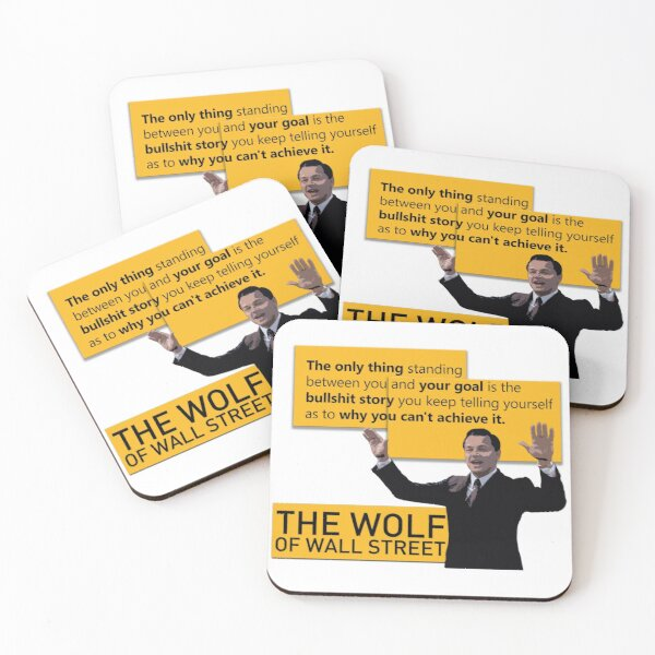 Di Caprio - Wolf of Wallstreet Coasters (Set of 4)