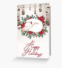 Happy Holidays Fox Greeting Card