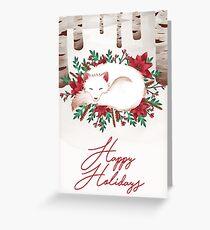 Frohe Feiertage Fox Grußkarte