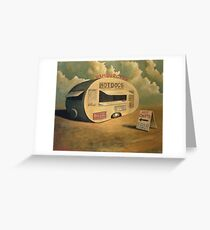 Abandoned Hotdog Van Greeting Card