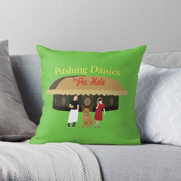 Pushing Daisies Minimalist Print Throw Pillow