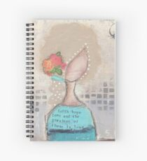 Faith, hope and love Spiral Notebook