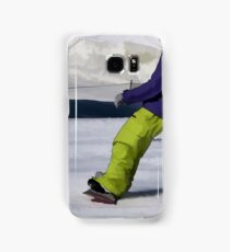 Snowboarder Finishing Stop Samsung Galaxy Case/Skin