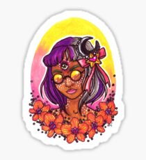 Magical Girl, Orchid Sticker