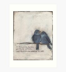 Humble and gentle  Art Print