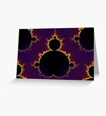 Fractal Mandelbrot Seamless Greeting Card