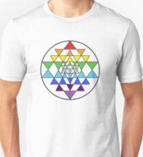 Sri Yantra Rainbow T-Shirt