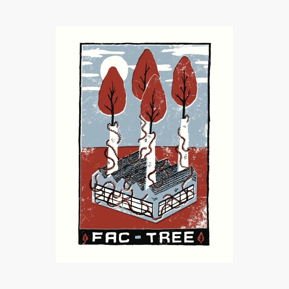 Fac-Tree Art Print