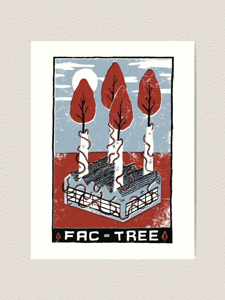 Alternate view of Fac-Tree Art Print