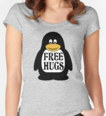Hugs the Penguin Women's Fitted Scoop T-Shirt