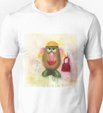 Mrs Potato Head - she's found her eyes! Unisex T-Shirt
