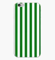 Large Christmas Green and White Cabana Tent Stripe iPhone Case