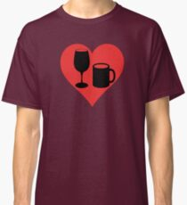 Powered on Coffee & Wine (Black) Classic T-Shirt