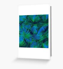 brazil palm tree graphic retro design pattern Greeting Card