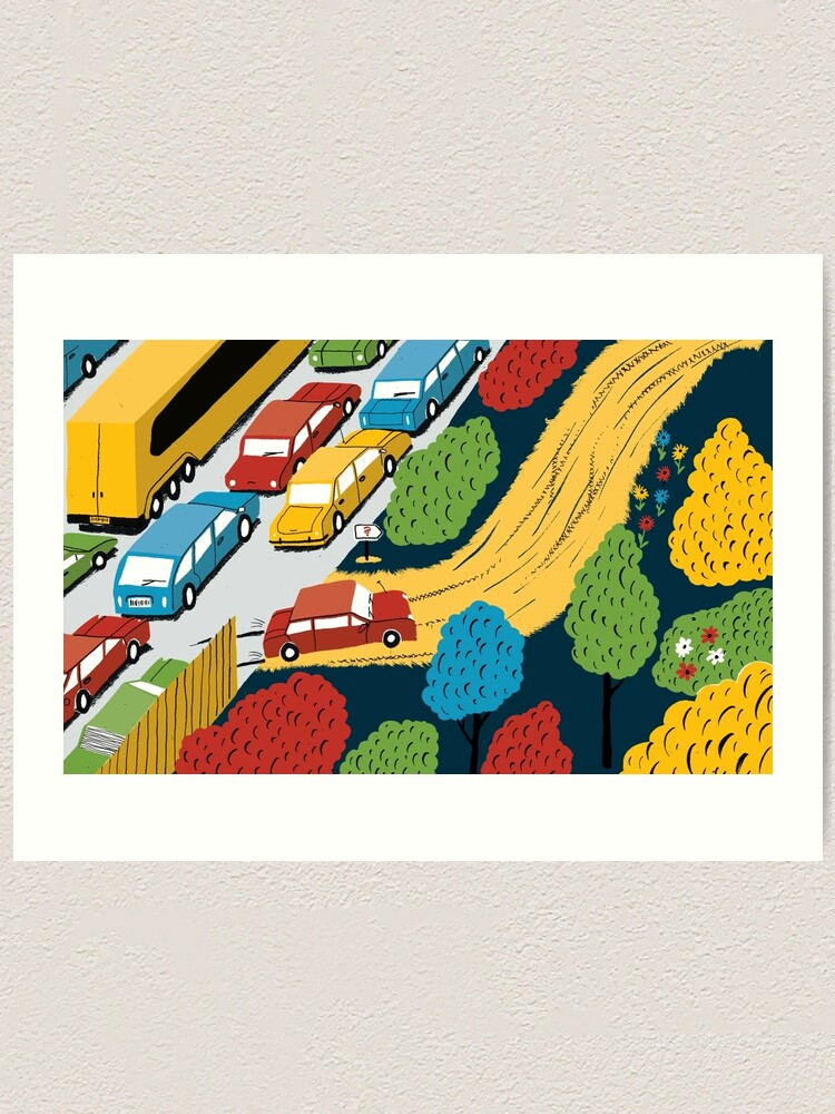 Alternate view of The road less travelled Art Print