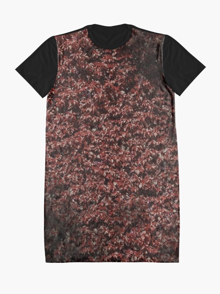 Alternative Ansicht von Rote Hecke des Herbstes T-Shirt Kleid