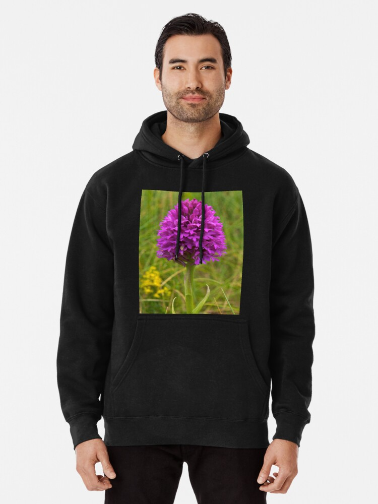 Alternate view of Pyramidal Orchid, Inishmore, Aran Islands  Pullover Hoodie