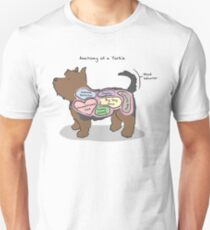 Anatomy of a Yorkie Unisex T-Shirt