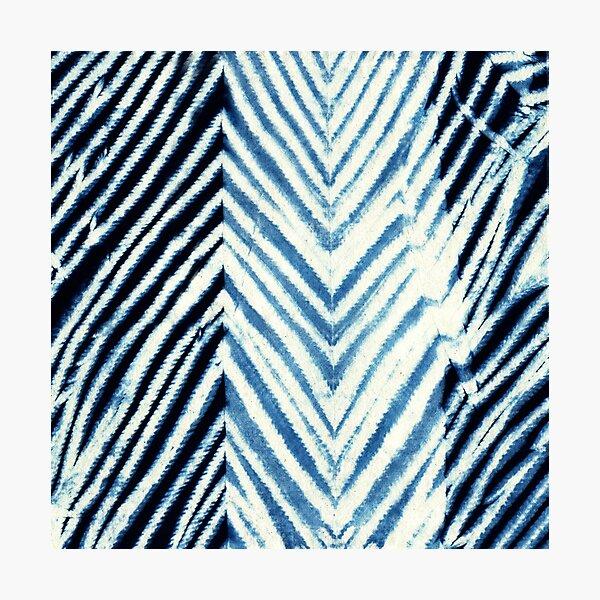 Indigo Blue Japanese Shibori Tie Dye Photographic Print