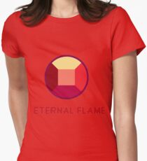 Eternal Flame - Ruby from Steven Universe Womens Fitted T-Shirt