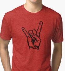 Devilhand - Pommesgabel Tri-blend T-Shirt