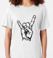Devilhand - Pommesgabel Slim Fit T-Shirt