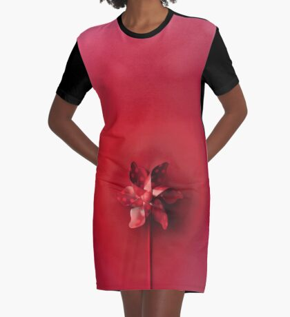 Rote Explosion T-Shirt Kleid