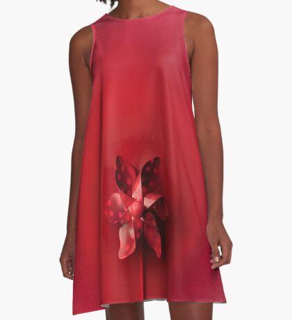 Rote Explosion A-Linien Kleid