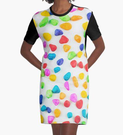Regenbogenfelsen T-Shirt Kleid