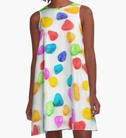 Regenbogenfelsen A-Linien Kleid