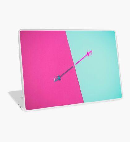 Magenta vs Cyan Laptop Folie