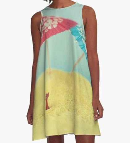 Hündchen-Insel A-Linien Kleid